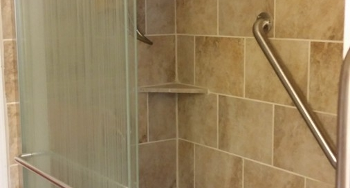 Custom tile job and shower door installation