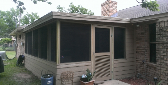 Completed sunroom - exterior view