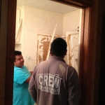 Tearing out old bathroom