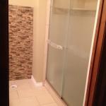 Shower door view