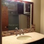 Mirror sink and backsplash